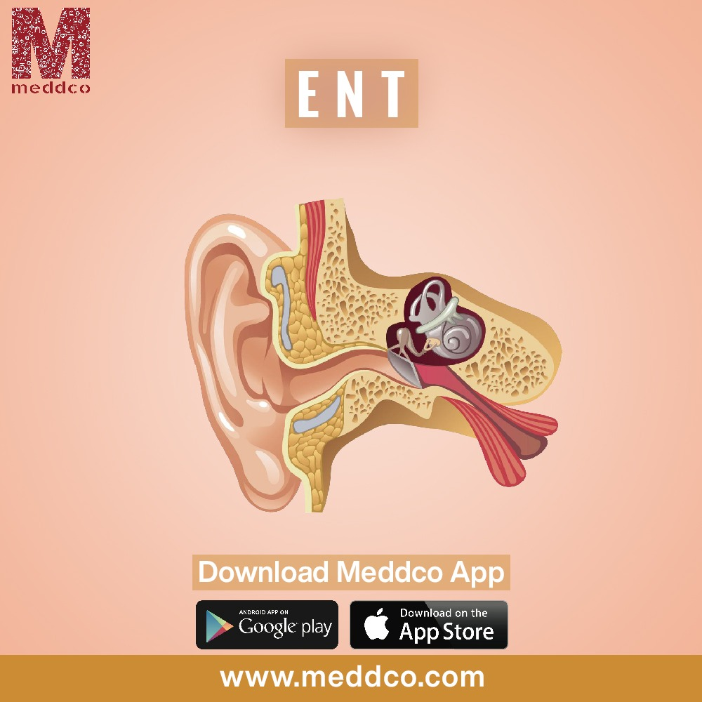 Treating a middle ear infection.